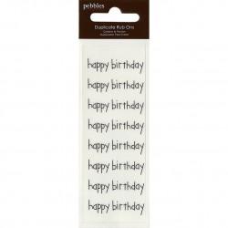 Rub Ons Happy Birthday