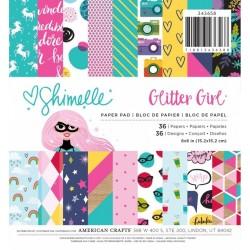 "Glitter Girl Pad 6""x6"""