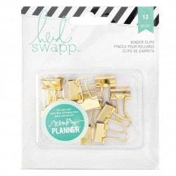 clips  gold memory planners