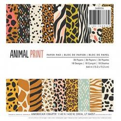 Pad 6x6 Animal Print