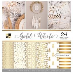 Gold + White Stack 12x12